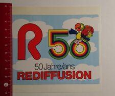Aufkleber/Sticker: R 50 Jahre ans Rediffusion (18031797)