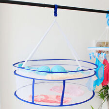 2 Layers Drying Rack Net Folding Hanging Clothes Laundry Sweater Dryer Basket 3C