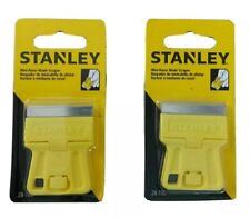 """(2 pks)Stanley 28-100 1-3/16""""  inch High Visibility Mini-Razor Blade Scraper"""
