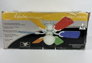 "Children's 30"" Ceiling Fan 6 Blade Multicolored Aloha Breeze New In Box"