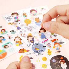 6 sheet hello jane cartoon  creative album of transparent diary calendar sticker
