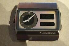 Vestal Monte Carlo Digital Chrono Stainless Mens Watch Silver w/ Mother of Pearl