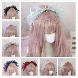 Lolita Headbands Organza Headwear Gothic Headdress Princess Hair Accessory Sweet