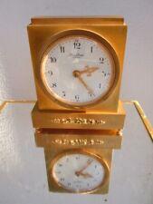 Pendule pendulette bronze dore Hour Lavigne Paris mouvement mécanique