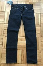 *Size 32x32* New with Tags Mens Japan Blue Selvedge Raw Tapered Denim Jeans Rare