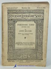Paradise Lost, Books I-III by John MILTON: Riverside Literature series 81626