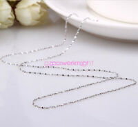 925 Solid Sterling Silver Chain Wholesale Necklace for All Sizes With Gift Box