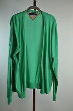 Tommy Hilfiger Pop Green Draped Cocoon Cardigan Sweater Jacket Sz L