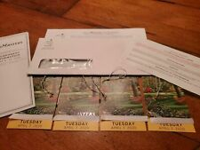 1 2 3 4 MASTERS Augusta 2020 Ticket TUESDAY Badge 11/10 TUESDAY Full Day IN HAND
