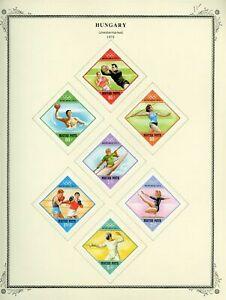 1972 Hungary Munich Summer Olympic Sports Set MH SC #2149-2155 Album Page #138