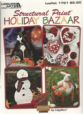 LEISURE ARTS CROCHET #1751  Structural Paint  Holiday Bazaar **