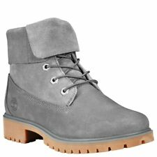 Timberland Jayne Fold Down Boots (Women Size 7.5) Grey Roll Top A1XBQ