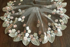 Floral Tulle Lace Trim Ribbon Fabric Flower Embroidery Wedding Trim Sewing OP32