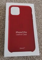 New Genuine Official Apple iPhone 11 Pro - Leather Back Case Cover - Product Red