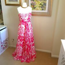 Coast Pink Ivory Silk Evening Dress Cruise Party Prom Wedding Event Size 10/12