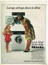 Publicité Advertising 1984 Machine à laver et sèche linge Miele