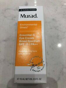 MURAD Essential C Eye Cream Broad Spectrum SPF 15 0.5oz - SEALED IN BOX