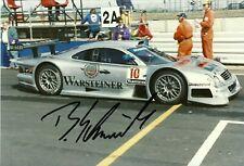 Bernd Schneider 1997 AMG Mercedes CLK GTR Le Mans F1 driver Signed photo