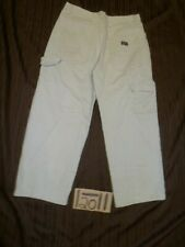 WRANGLER CARPENTER 36X30 MEASURE 35X27 KHAKI JEANS- #WG876