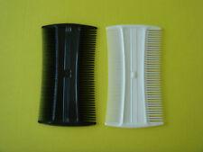 Läusekamm - 2 Stück - aus Plastik - Sie bekommen  1 weißen und 1 schwarzen Kamm
