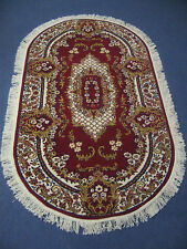 Agnella Wilton Acrylic Oval Rug Red Traditional Oriental 100 X 180cm