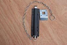 "200mm Chain Bolt 8"" - Black - For Garage or Shed Door/ SLOT A18"