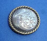 """Western Decor Engraved Gold Rope Border 1-1/2"""" Conchos"""