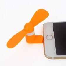 Orange Portable Super Mute Lightning USB Mini Fan Cooler For Apple Iphone 5 6 6S