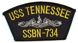 USS Tennessee SSBN-734 Embroidered Patch US Navy Nuclear Submarine Boomer