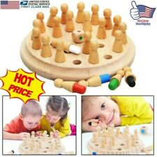 Kids Wooden Memory Match Stick Chess Game Educational Toys Brain Training Gifts