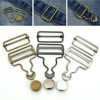 2 Set Suspender Gourd Buckle Metal Button Sewing Jean Pants Button Craft Tool