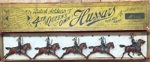 Britains: Rare Boxed Set 8 - 4th Queens Own Hussars. Second Version c1910