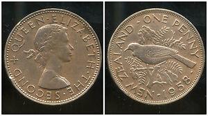 NOUVELLE ZELANDE  one 1 penny  1958  ANM
