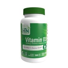 Health Thru Nutrition - Vitamine D3 5000iu 125mcg X 360 Gélule