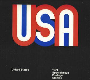 1971 Commemorative Stamp Yr Set --Very Rare Type II