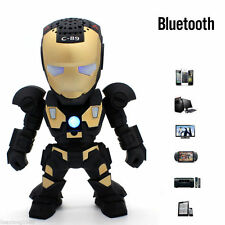 Negro Robot Bluetooth Inalámbrico Altavoz subwofer Acústica PC iPhone Samsung FM