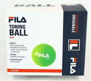 FILA Fitness Originale Toning Ball Exercise Body Sculpting 4 Lbs New Free SHIP