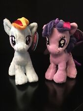 "2 NEW Aurora My Little Pony 6.5"" Plush Figure - Rainbow Dash Twilight Sparkle"