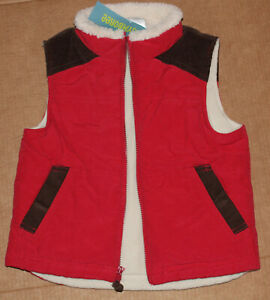 3 4 NWT Gymboree ALASKAN ADVENTURE Red VEST Jacket XS
