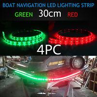 Led Signal Nav Navigation Light Strip Waterproof Port Starboard Marine Boat 4pc