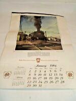 Vintage 1984 Pennsylvania Railroad Calendar
