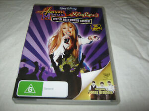 Hannah Montana and Miley Cyrus - Best of Both Worlds - VGC - DVD - R4