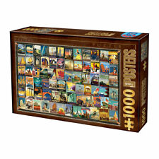 Puzzle DToys 1000 Teile - Vintage Collage - Travel (63638)