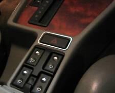 D BMW E34 5er  5 Serie  Chrom Rahmen für Schalter Warnblinker Edelstahl poliert
