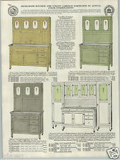 1930 PAPER AD Painted Kitchen Cupboard Cabinet Hoosier Type COLOR Green Yellow