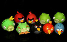 Rare Angry Birds 9 Puzzle Rubber Eraser COMPLETE Set Rovio Licensed Product