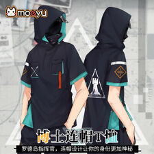 Arknights Doctor Summer Hooded Short Sleeve T-Shirt Unisex Casual Student Tops