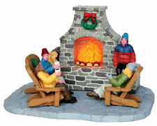 "LEMAX CHRISTMAS VILLAGE ""OUTDOOR FIREPLACE"" MPN NO. 44753, ANIMATED TABLE ACCENT"