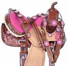 HORSE SADDLE WESTERN PLEASURE TRAIL BARREL RACING YOUTH LEATHER TACK 12 13 14