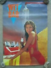 VINTAGE 1986 Michelob Light Beer ~ Sexy Swimsuit Brunette Girl Poster ~ Wet Bar